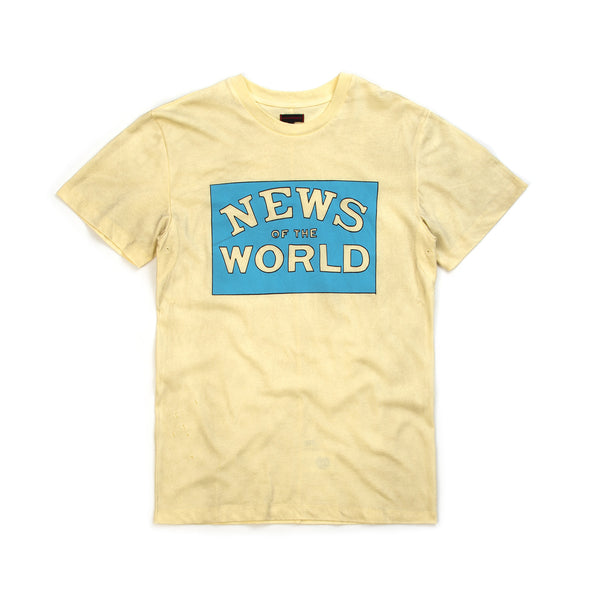 CLOT | x Zoe Vance News Of The World Tee Cream - Concrete