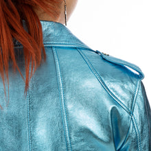 將圖像加載到畫廊查看器中CocoCloude | Laminated Leather Jacket Light Blue - Concrete