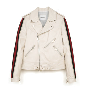 CocoCloude | Leather Jacket Bianco - Concrete