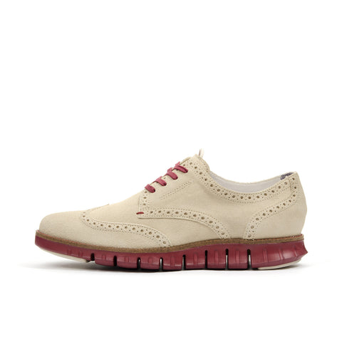 Cole Haan ZerøGrand Deconstructed Wingtip Oyster Grey - Concrete