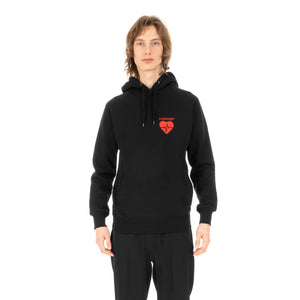 Concrete | 'Heartbeat' Logo Hoodie Black / Red
