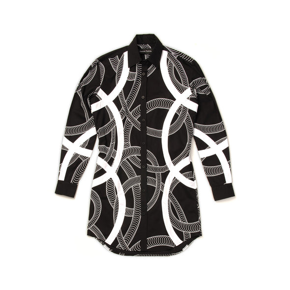 Daniel Palillo 3D Print Shirt Dress Black - Concrete