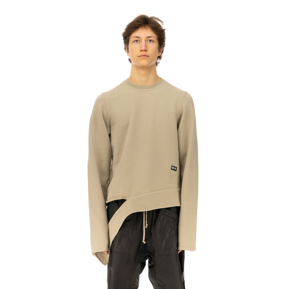 DRKSHDW by Rick Owens | Long Sleeve Creatch Sweat Pearl - Concrete