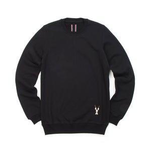 DRKSHDW by Rick Owens Woven Embroidered Crewneck Sweat Black