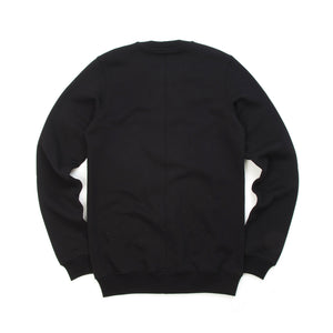 Rick Owens DRKSHDW Woven Embroidered Crewneck Sweat Black