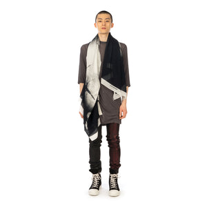 DRKSHDW by Rick Owens | Cot Stampato Scarf White - Concrete