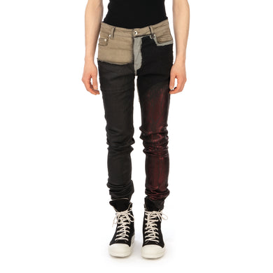 DRKSHDW by Rick Owens | Tyrone Cut Pants Black / Multi - Concrete
