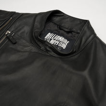 Afbeelding in Gallery-weergave laden, Billionaire Boys Club | Leather Wolfman Motorcycle Jacket Black