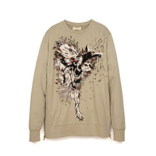 Load image into Gallery viewer, IH NOM UH NIT Embroidered Sweater - Pearls On The Back Taupe - Concrete
