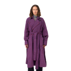 Henrik Vibskov | Plus Coat Grid Bordeaux