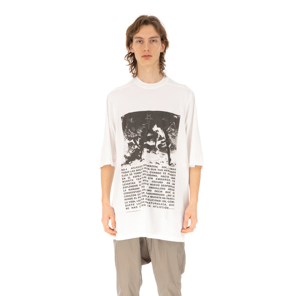 DRKSHDW by Rick Owens | Jumbo Tee Chalk White / Black - Concrete