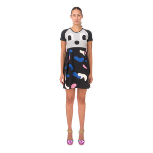 Daniel Palillo Camo Face Dress Grey/Black