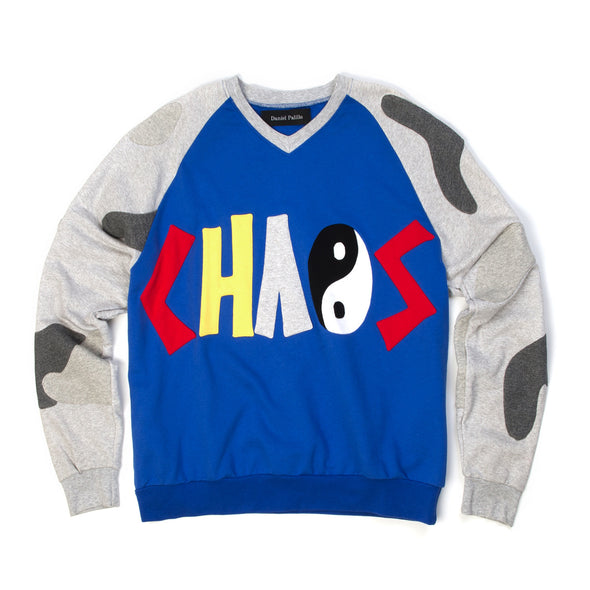 Daniel Palillo Chaos Sweater Blue/Grey - Concrete