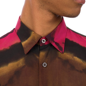 Danilo Paura | 'Bruce' Regular Shirt Brown - Concrete