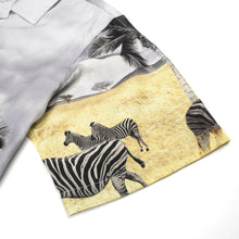 Afbeelding in Gallery-weergave laden, Danilo Paura 'Petra' S/S Safari Shirt Zebra Grey