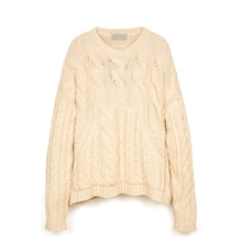 將圖像加載到畫廊查看器中Danilo Paura 'Luke' Oversized Braiding Sweater Cream