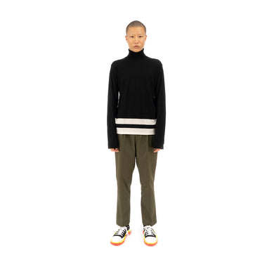 Danilo Paura 'Bashkim' Highneck Sweater Merinos Black / Cream