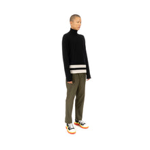 Load image into Gallery viewer, Danilo Paura 'Bashkim' Highneck Sweater Merinos Black / Cream - Concrete