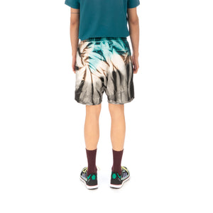 Danilo Paura | 'Donny' Embroidery Shorts Turquoise - Concrete