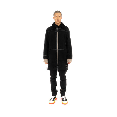 Danilo Paura 'Franky' Sheepskin Coat Black - Concrete