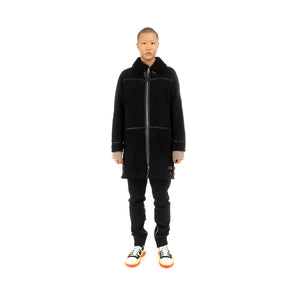 Danilo Paura 'Franky' Sheepskin Coat Black