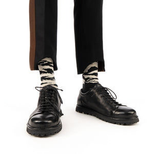 Danilo Paura 'Nelson' Band Pant Black / Brown - Concrete