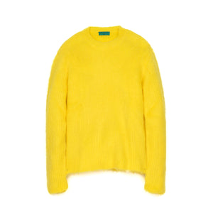Danilo Paura 'Tevrat' Mohair Wool Sweater Yellow