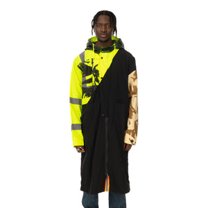 Duran Lantink for Concrete | Flash Long Coat Black / Neon Yellow - Concrete