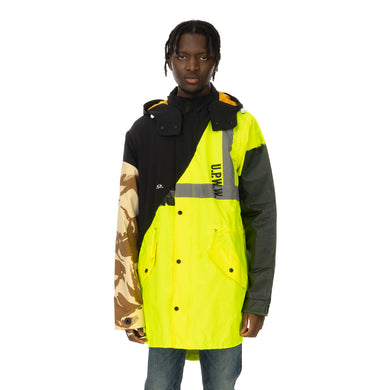 Duran Lantink for Concrete | Flash Long Coat Neon Yellow / Black - Concrete