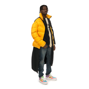Duran Lantink for Concrete | Puffer Long Coat Yellow / Black - Concrete