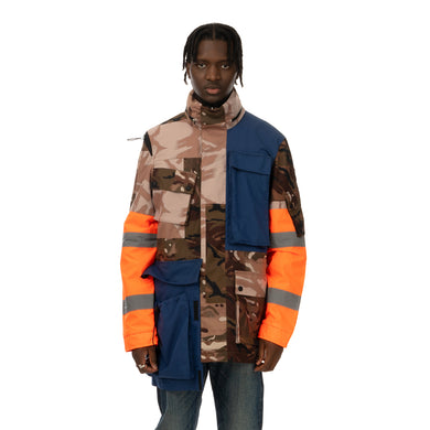 Duran Lantink for Concrete | Camo Jacket Camo / Navy-Orange - Concrete