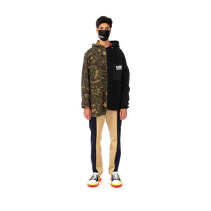 Duran Lantink for Concrete | Fluffy Camo Jacket-1 Camo / Black