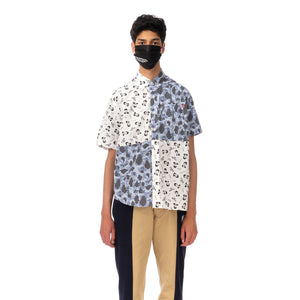 Duran Lantink for Concrete | The Beatles S/S Camo Shirt-2 Blue / White
