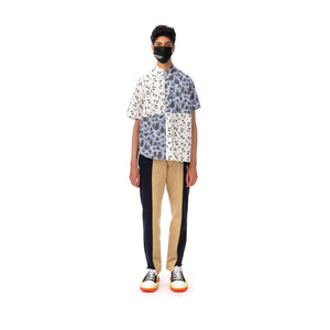 Duran Lantink for Concrete | The Beatles S/S Camo Shirt-2 Blue / White - Concrete