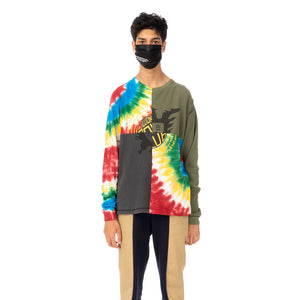 Duran Lantink for Concrete | Tie-Dye Crew-1 Multi / Olive-Grey