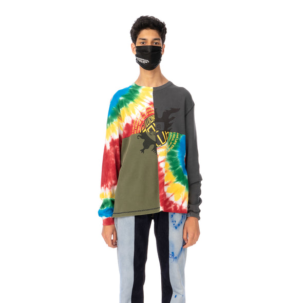 Duran Lantink for Concrete | Tie-Dye Crew-3 Multi / Olive-Grey