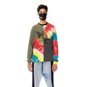 Duran Lantink for Concrete | Tie-Dye Crew-4 Multi / Olive-Grey