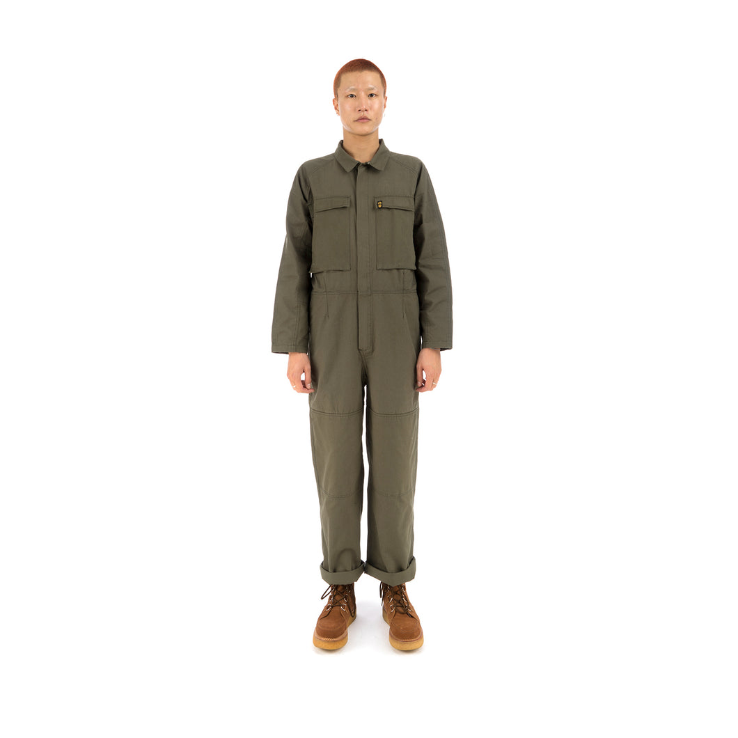 Element x Nigel Cabourn Sawyer Coverall Military Green - Concrete