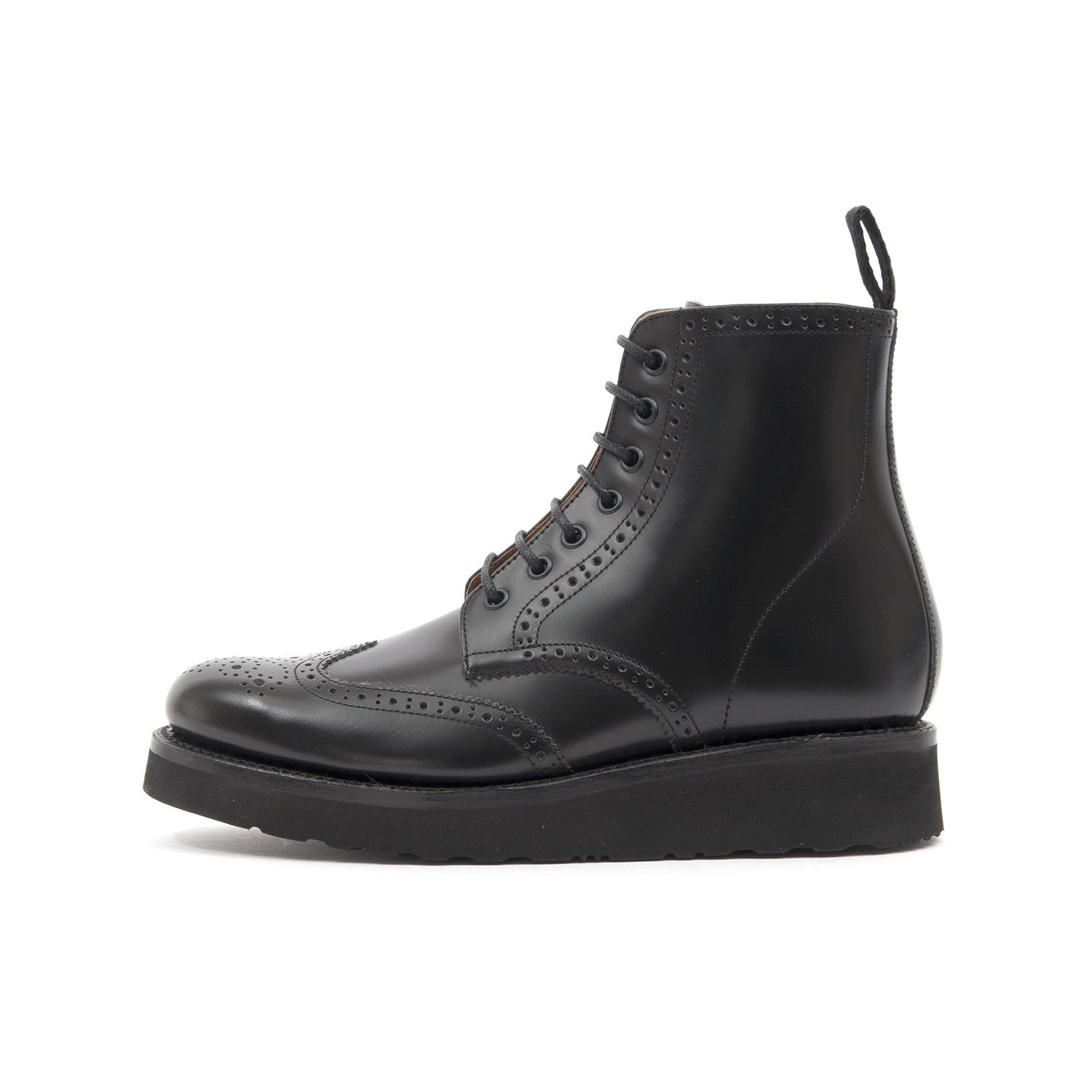 bc720f7b37 Grenson 'Emma' Brogue Boot Black – Concrete