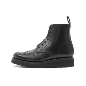 Grenson | 'Emma' Brogue Boot Black - Concrete