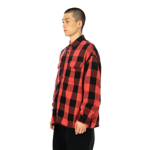 FACETASM | Check Shirt Red - Concrete