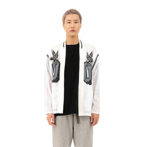 FACETASM | Eagle Cardigan White - Concrete