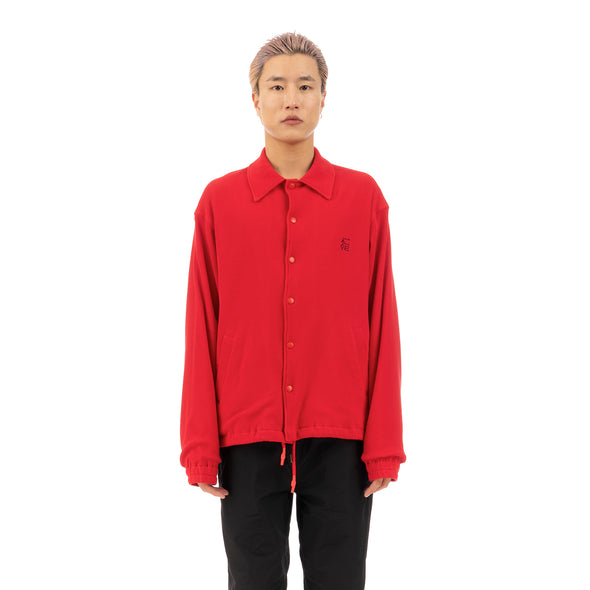 FACETASM | Face Coach Jacket Red - Concrete