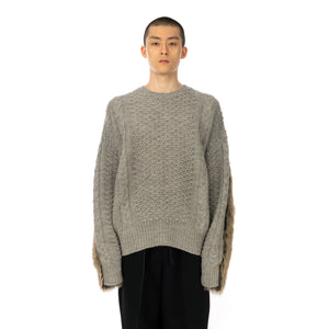 FACETASM | Faux Fur Knit Gray
