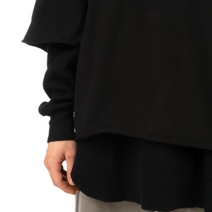 FACETASM | Layered T-Shirt Black