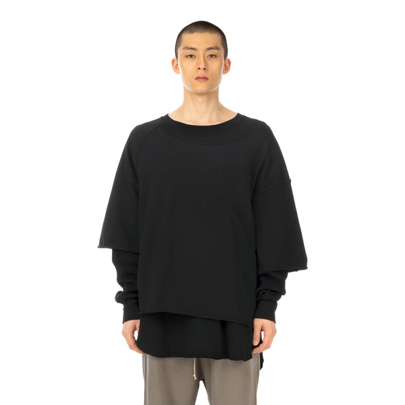 FACETASM | Layered T-Shirt Black - Concrete