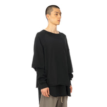 Load image into Gallery viewer, FACETASM | Layered T-Shirt Black