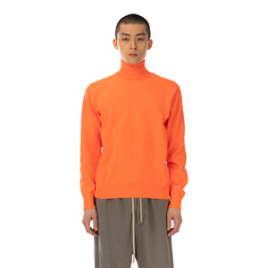 FACETASM | Neon Turtleneck Sweater Orange