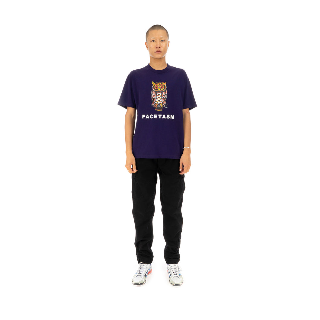 FACETASM Owl Basic T-Shirt Purple