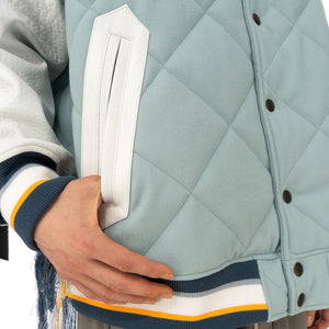 FACETASM | Quilted Varsity Jacket Blue